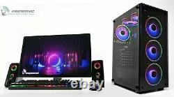6-Fans ARGB Gaming PC Computer Set i5 2GB GT 710 8GB Ram 240GB SSD Windows 10