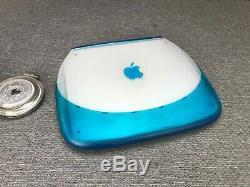 Apple iBook G3 Bondi Blue Laptop Computer 300MHz OS 10.3 96MB RAM 3GB HDD