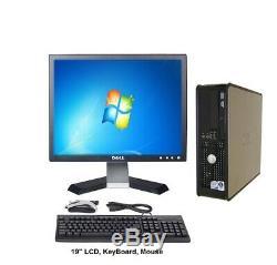 BEST Dell Optiplex Core 2 Duo Full Computer Set 4GB RAM 160 GB HDD 19 LCD WIN7