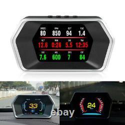 Car OBD2 GPS HUD Computer Head Up Display Smart Digital Meter HD Digital Display