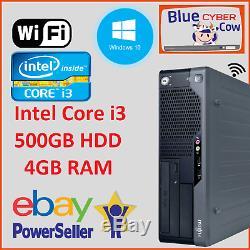 Cheap Fast Windows 10 FUJITSU INTEL i3 PC Desktop Computer 4GB RAM 320GB WiFi
