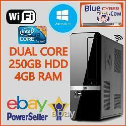 Cheap Fast Windows 10 HP INTEL SFF i3 PC DESKTOP Computer 4GB RAM 250GB HDD WiFi