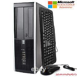 DESKTOP COMPUTER HP 8000 8GB RAM 250GB HDD CORE 2 DUO 3.0GHz WIN 10 PRO
