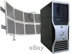 Dell 490 Quad Core 2.33GHz/4GB RAM 1TB HDD Eight 8 Multi Monitor Computer Win10