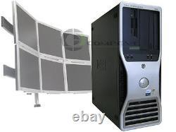 Dell 490 Quad Core 2.66GHz / 8GB RAM 6 Monitor Trading Computer Desktop Win10