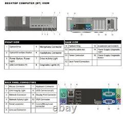 Dell Computer PC Desktop 8GB Ram 500GB HD Intel Quad Core i5 3.20GHz Windows 10