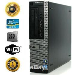 Dell Desktop Computer I7 3770 3.4ghz Quad Core SSD + 1TB HD 16GB RAM Win10 DT