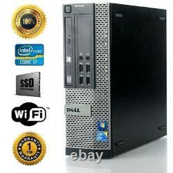 Dell Desktop Computer I7 4770 3.4ghz Quad Core SSD + 500GB HD 16GB RAM Win10 SFF