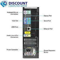 Dell Desktop Computer PC Core i5 16GB RAM 2TB HD 22 LCD Monitor Windows 10 Pro