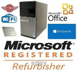 Dell Desktop Computer Tower FAST QUAD CORE i7 Windows 10 Pro PC 8GB RAM 2TB HD