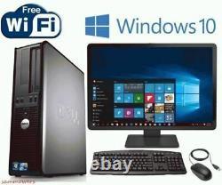 Dell Desktop Computer Windows 10 Ten Core 2 Duo PC 8GB RAM 250GB HD Optiplex 64