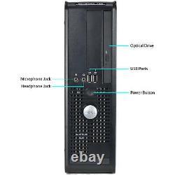 Dell Desktop PC Computer Core 2 Duo 16GB RAM DUAL 22 LCD Monitor WIFI 1TB