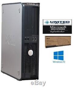 Dell Desktop PC Computer Core 2 Duo 8GB RAM DUAL 22 LCD Monitor Windows 10 Pro