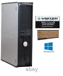 Dell Desktop PC Computer Dual Core 4GB RAM DUAL 22 LCD Monitor WiFi Windows 10
