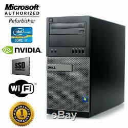 Dell Gaming PC Desktop Computer I7, NVIDIA GTX 1060, SSD + 1TB, 16GB RAM, WIN10