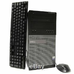 Dell Tower Intel i7 CPU 16GB RAM 2TB HD PC Windows 10 Professional Computer PC