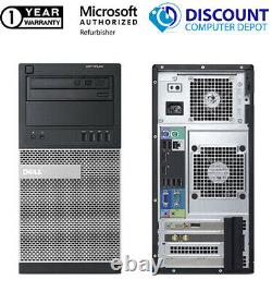 Dell i3 Tower Windows 10 Desktop Computer 3.30GHz 8GB RAM 500GB HD 19in LCD WIFI