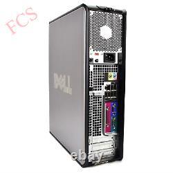 FAST DELL COMPUTER 2x 22 HD LCD MONITOR CHEAP WIN 10 TRADING PC WiFi 8GB RAM