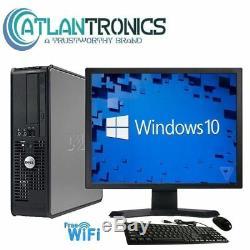 FAST Dell Desktop Computer PC Core 2 Duo 2.4Ghz 4GB RAM Windows 10/7 Pro WIFI