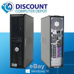 FAST Dell Windows 10 Desktop Computer Core 2 Duo 4GB Ram 250GB DVD WiFi 22 LCD