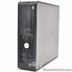 FAST Dell Windows 10 Desktop Computer Core 2 Duo 4GB Ram DVD WiFi 17 Dell LCD