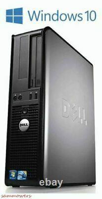FAST Dell Windows 10 Desktop Computer Core 2 Duo 4GB Ram DVD WiFi 19 Dell LCD