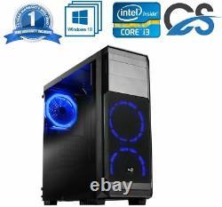 FAST GAMING COMPUTER PC INTEL CORE i3 Windows 10 8GB RAM 1TB 2GB NVIDIA GT710