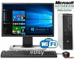 FAST HP PC COMPUTER DESKTOP SET CORE i5 16GB RAM 1TB HDD WIFI WIN 10 22 MONITOR