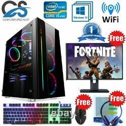 FAST Intel Quad Core i5 Gaming PC Computer 16GB RAM 1TB HDD Window 10 GT 710 2GB