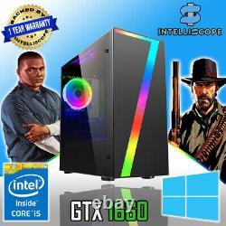 FAST Quad Core i5 GTX 1650 Gaming PC 16GB RAM SSD & HDD Win 10 Desktop Computer