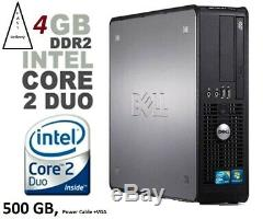 Fast Dell Pc Computer Desktop Tower Windows 10 Wi-fi 4gb Ram 500gb Hdd