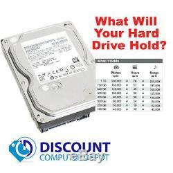 Fast HP 6000 Pro Quad Core Desktop Computer PC 8GB RAM 1TB Windows 10-64 DVD-RW