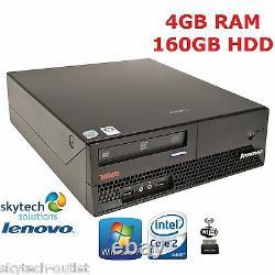 Fast Lenovo Intel Dual Core Desktop PC 4GB RAM 160GB HDD WIFI Cheap Computer PC