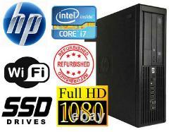 GAMING PC DESKTOP COMPUTER HP Z200 WorkStation SFF i7 8GB RAM 3TB HDD WIFI WIN10