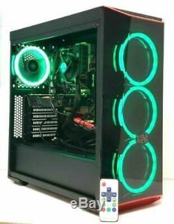GAMING PC RGB DESKTOP COMPUTER RYZEN 3.4GHz 8GB RAM 500 SSD GTX 1060 WINDOWS 10