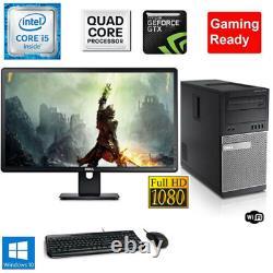 Gaming PC Desktop Computer DELL i5 GT1030 8GB RAM 2TB HDD Win10 pro WIFI HDMI