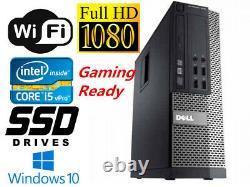 Gaming PC Desktop Computer DELL i7 16GB RAM 240GB SSD+1TB HDD HD6450 Win10 WIFI
