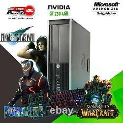 Gaming PC Desktop Computer Intel Core i5 Nvidia GT 16GB RAM 256GB SSD WiFi Win10