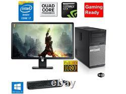 Gaming PC Desktop Computer i7 16GB RAM HD7570 128GB SSD +1TB Win10 WIFI +KB
