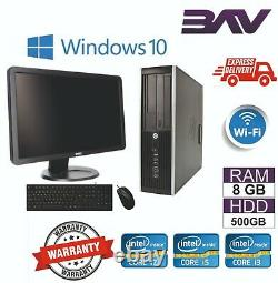 HP Dell Computer Desktop SFF USFF PC BUNDLE INTEL i3 i5 i7 8GB RAM 500GB HDD
