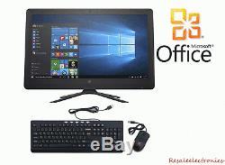 HP Desktop 21.5 All-In-One Computer AMD A6 4GB RAM 1TB HDD Windows 10 Pro Black