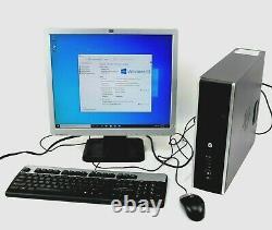 HP Desktop Computer Tower Pentium 4GB Ram 250GB HD WiFi Windows 10 with Monitor