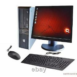 HP Desktop PC Computer Windows 10 Core 2 Duo 19 Monitor 8GB Ram 1TB Win 10 WiFi