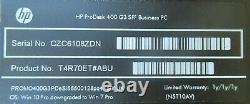 HP ProDesk 400 G3 Core i5-6500 3.2GHz 4GB Ram 128GB SSD Win10 Pro Computer