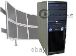 HP XW4600 Dual Core 2.33GHz/4GB RAM/Win10 6 Monitor Desktop Computer Tower