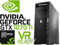 HP Z620 4K VR Ready Gaming Computer 3.8GHz 8 Cores GTX1070Ti 32GB RAM 512GB SSD