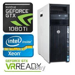 HP Z620 4K VR Ready Gaming Computer 3.8GHz 8 Cores GTX 1080Ti 32GB RAM 512GB SSD
