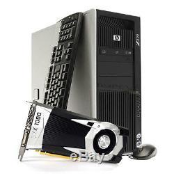 HP Z800 Gaming Computer PC GeForce GTX 1060 3GB 2x CPU 256GB SSD 16GB RAM