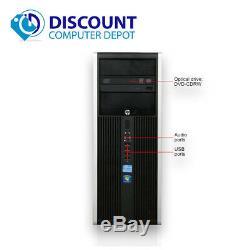 HP i3 Desktop Computer Tower Windows 10 Dual Core 8GB Ram 500GB HDD Wifi DVD-RW