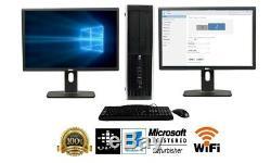 Hp or Dell Desktop PC Computer Core i5 QUAD 4GB RAM DUAL 19 LCD WiFi Windows 10